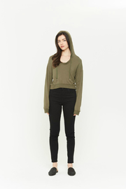 Comune Mayville Hooded Drawstring Pullover - Front cropped