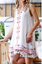 Mazik Embroidered Dress, White - Front cropped
