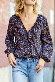 Mazik Flounce Floral Blouse - Front cropped