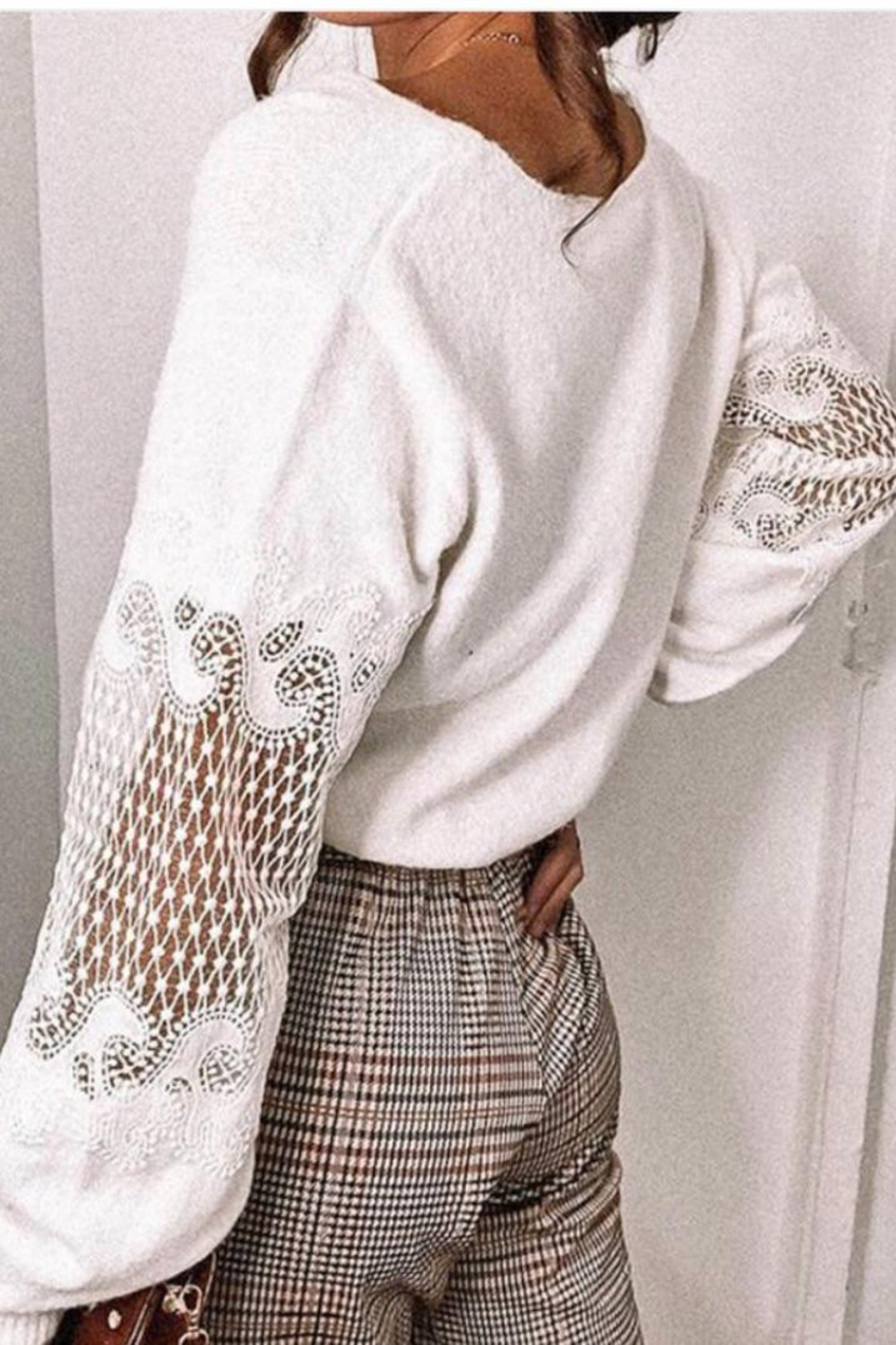 Mazik Knitted Sweater Top - Side Cropped Image