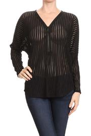 Mb Sebastian Zip Striped Blouse - Front cropped