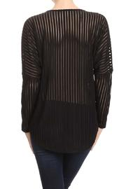 Mb Sebastian Zip Striped Blouse - Side cropped