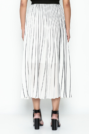 MC Oasis Striped White Skirt - Back cropped