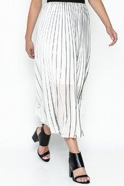 MC Oasis Striped White Skirt - Front cropped