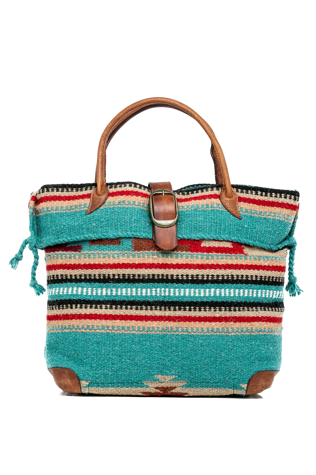 Mcfadin Wool And Leather Tote Front Cropped Image
