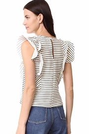 McGuire Ruffle Striped Top - Front full body