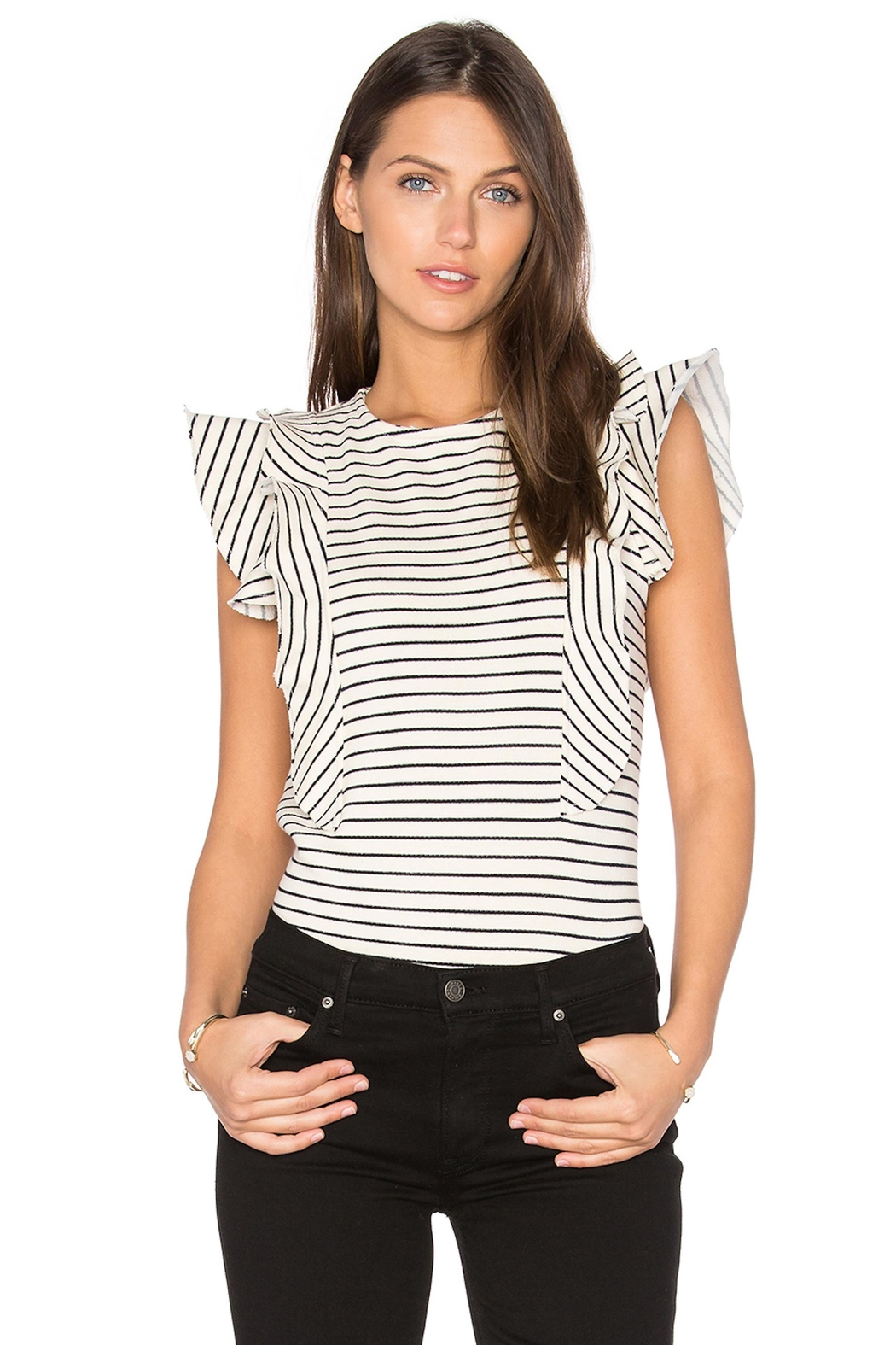 McGuire Ruffle Striped Top - Main Image