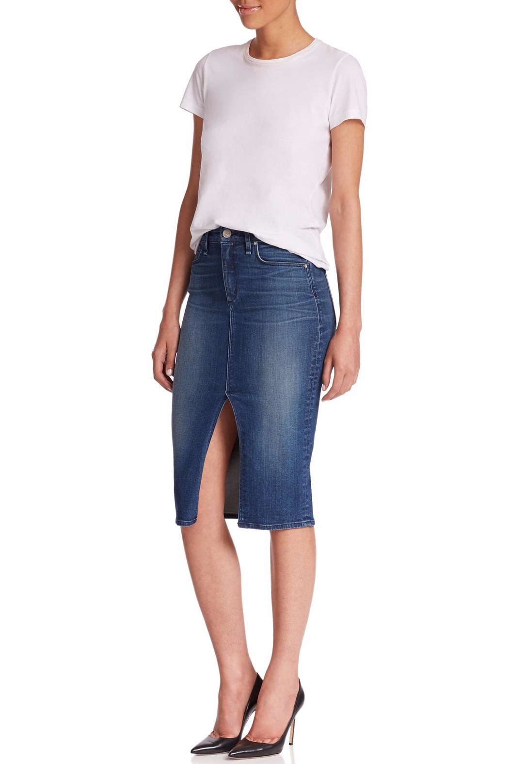MCGUIRE DENIM Marino Denim Skirt - Main Image