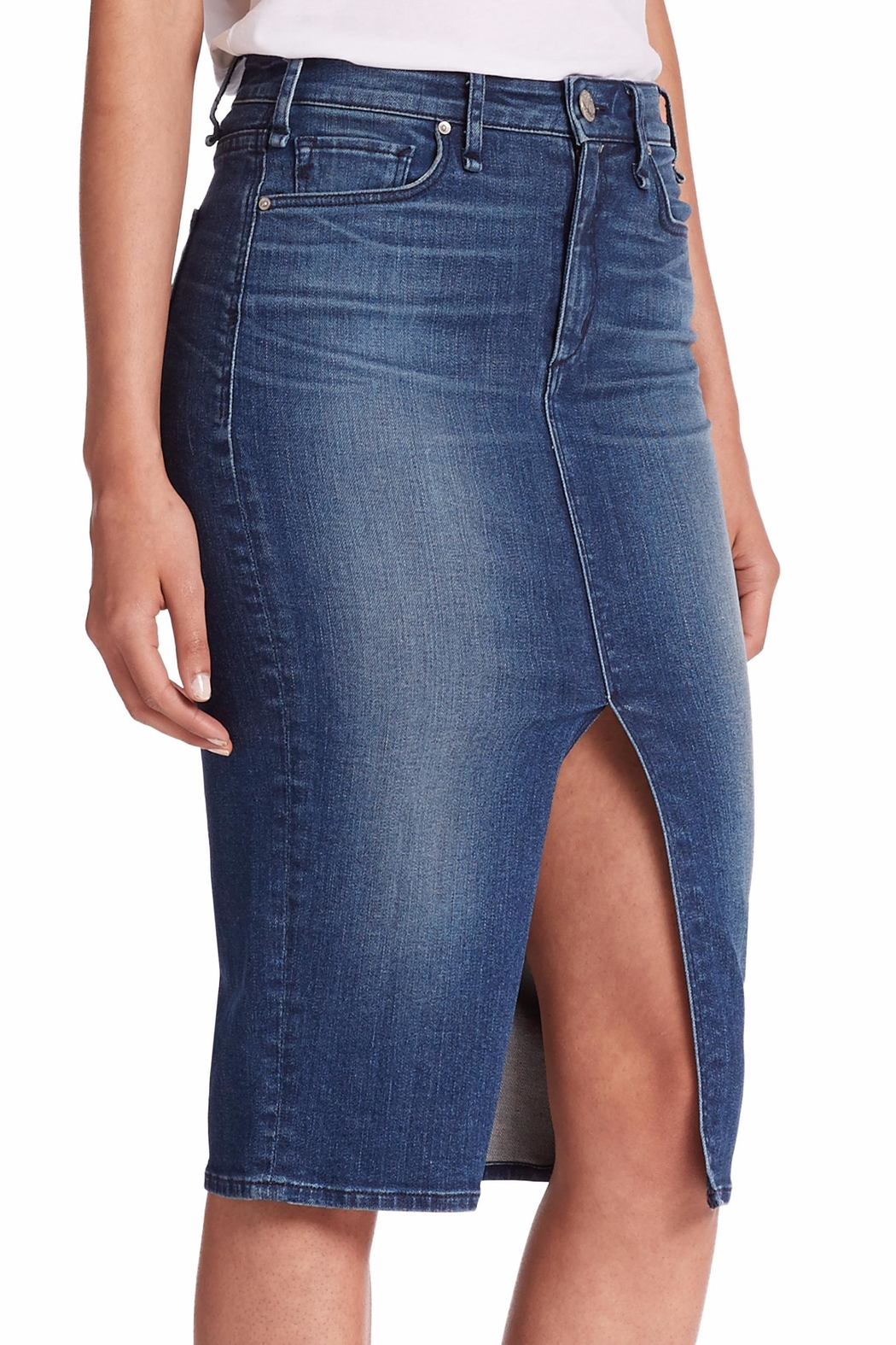 MCGUIRE DENIM Marino Denim Skirt - Side Cropped Image