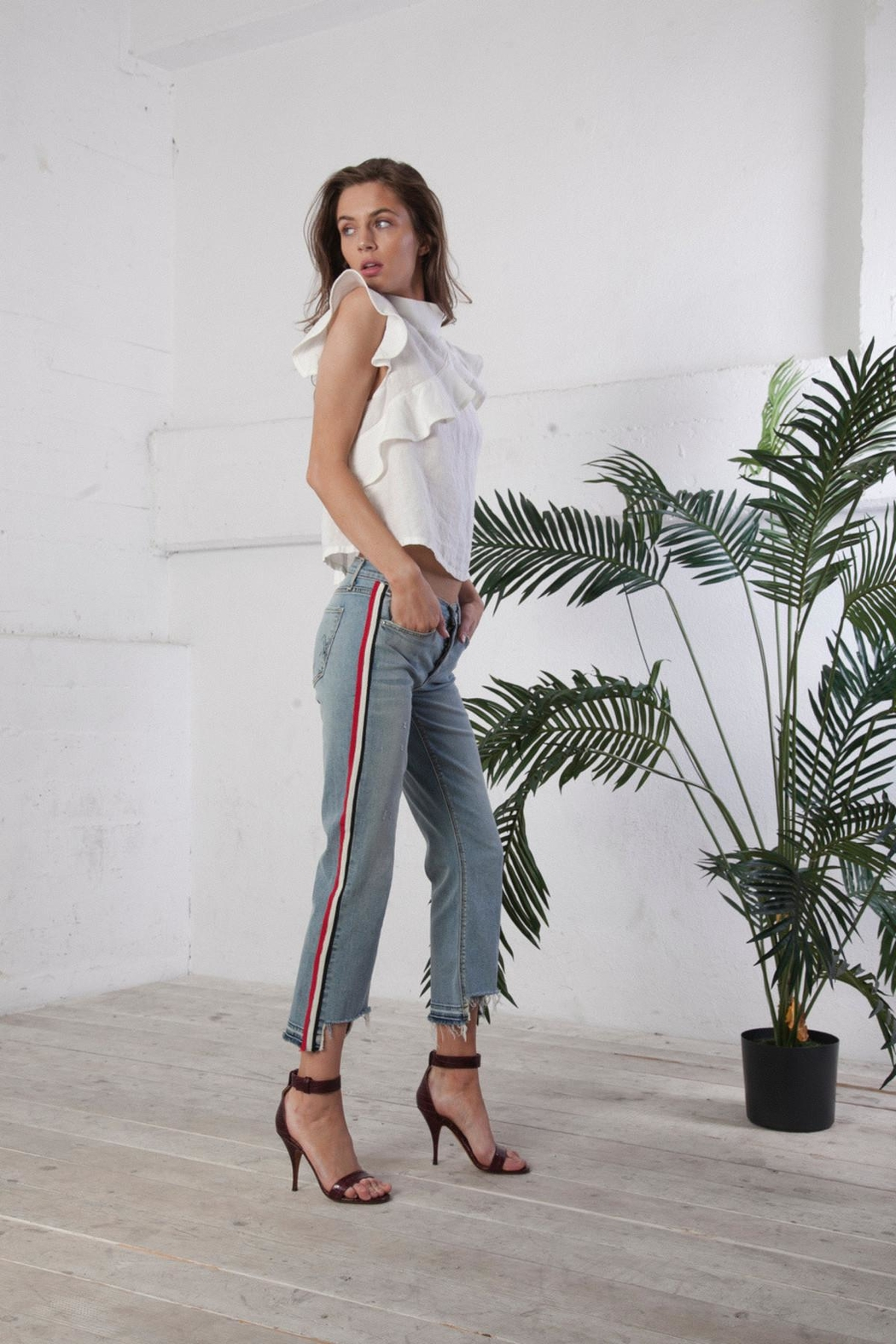 MCGUIRE DENIM Ribbon Stripe Jean - Main Image