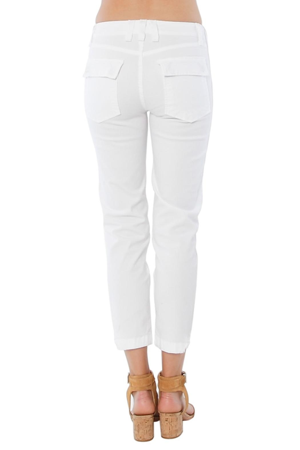 MCGUIRE DENIM White Utility Trouser - Side Cropped Image