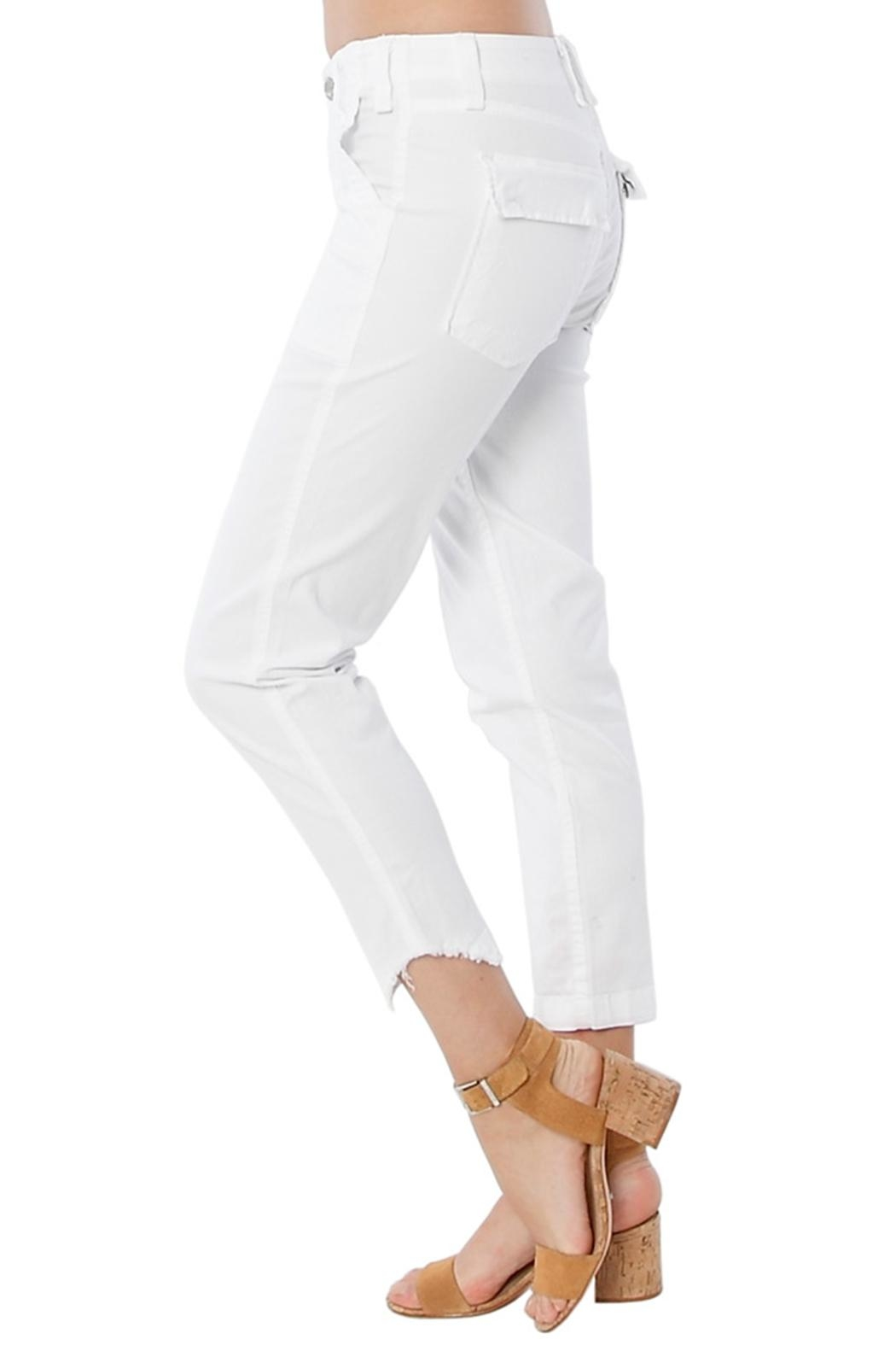 MCGUIRE DENIM White Utility Trouser - Front Full Image