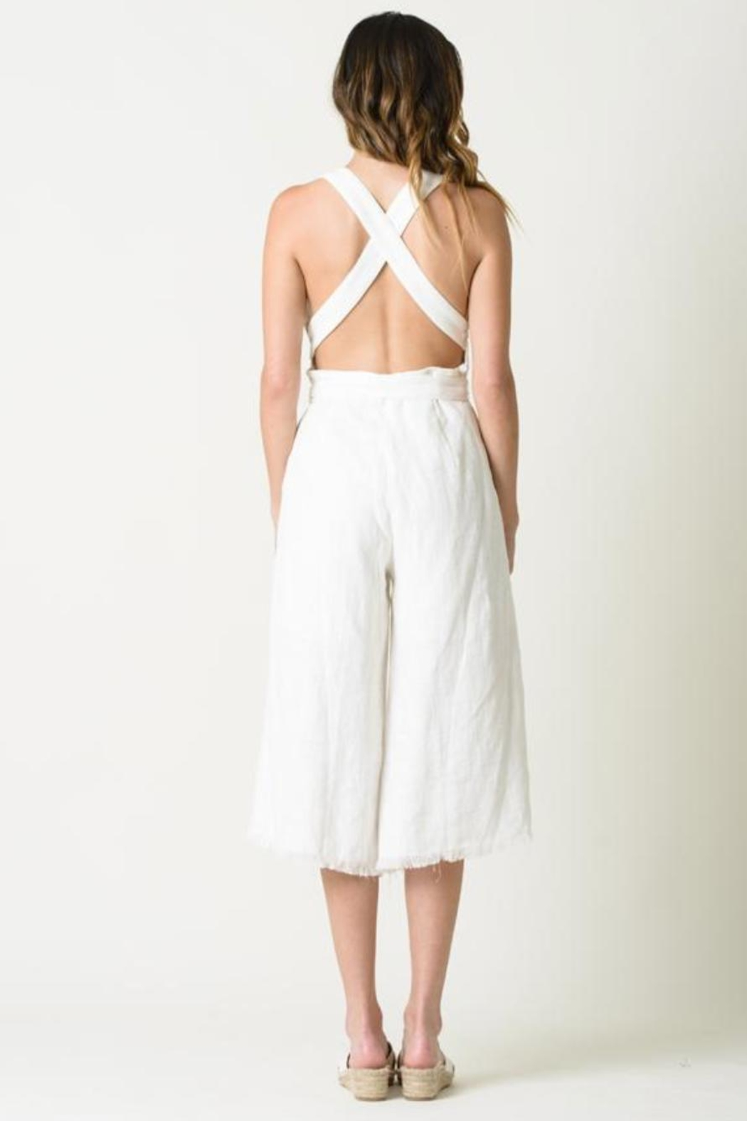 Lucca Mckenna White Jumpsuit - Front Full Image