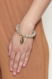 McStacks Grey Beaded Bracelet - Back cropped