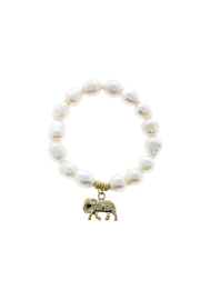 McStacks White Beaded Bracelet - Front cropped