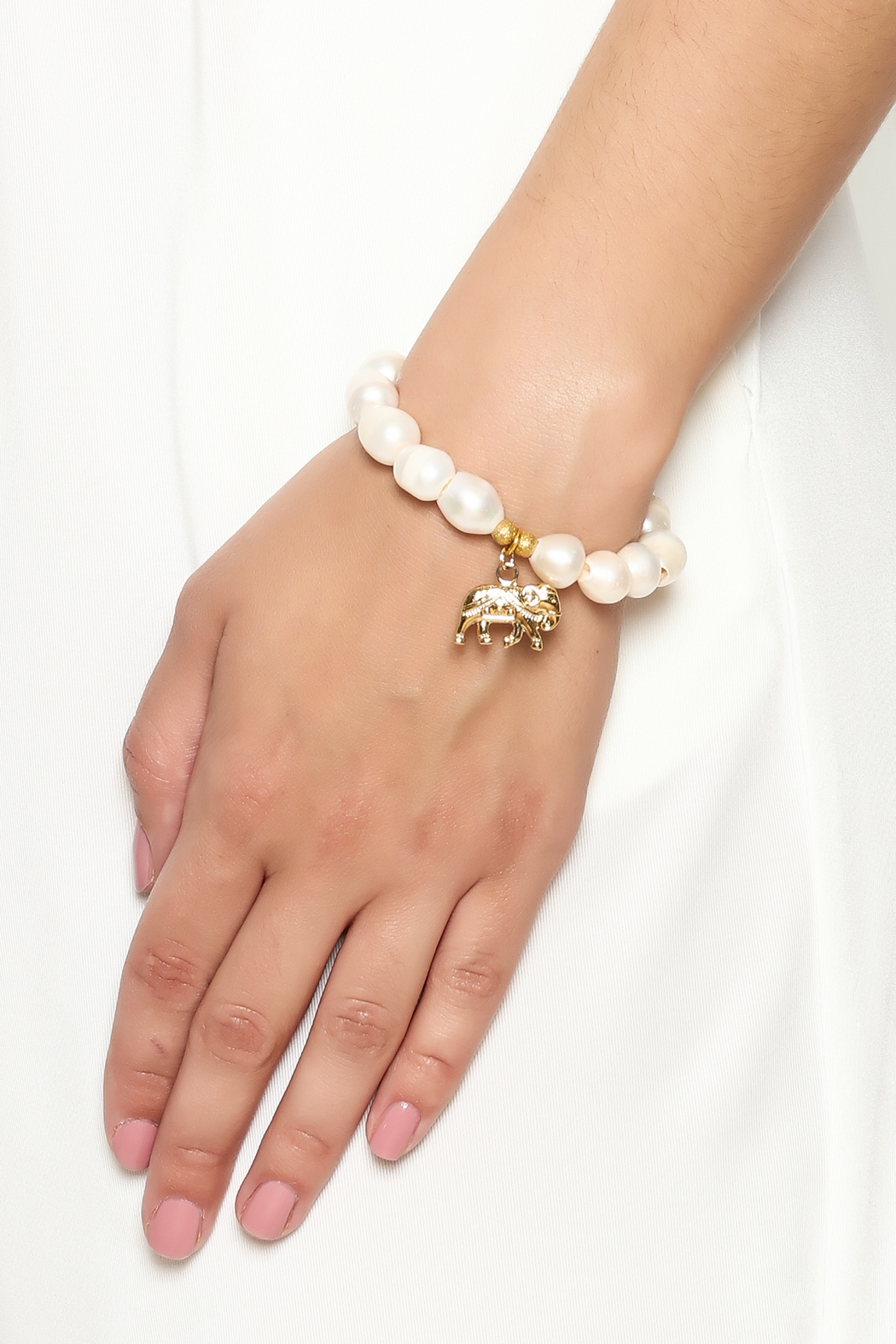 McStacks White Beaded Bracelet - Back Cropped Image