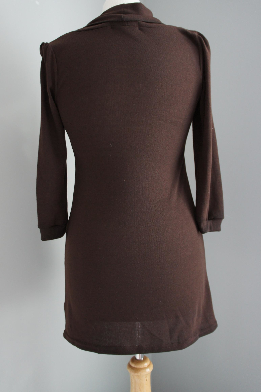 Me & You Cowlneck Pleated Sweater - Side Cropped Image