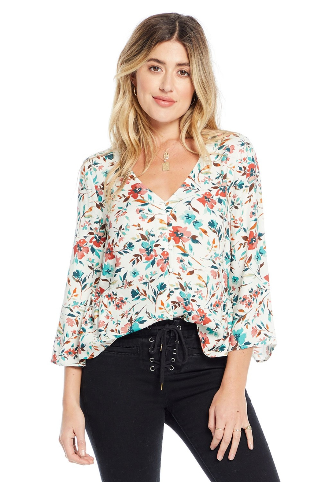 Saltwater Luxe Meadow Blouse - Primrose Floral - Main Image