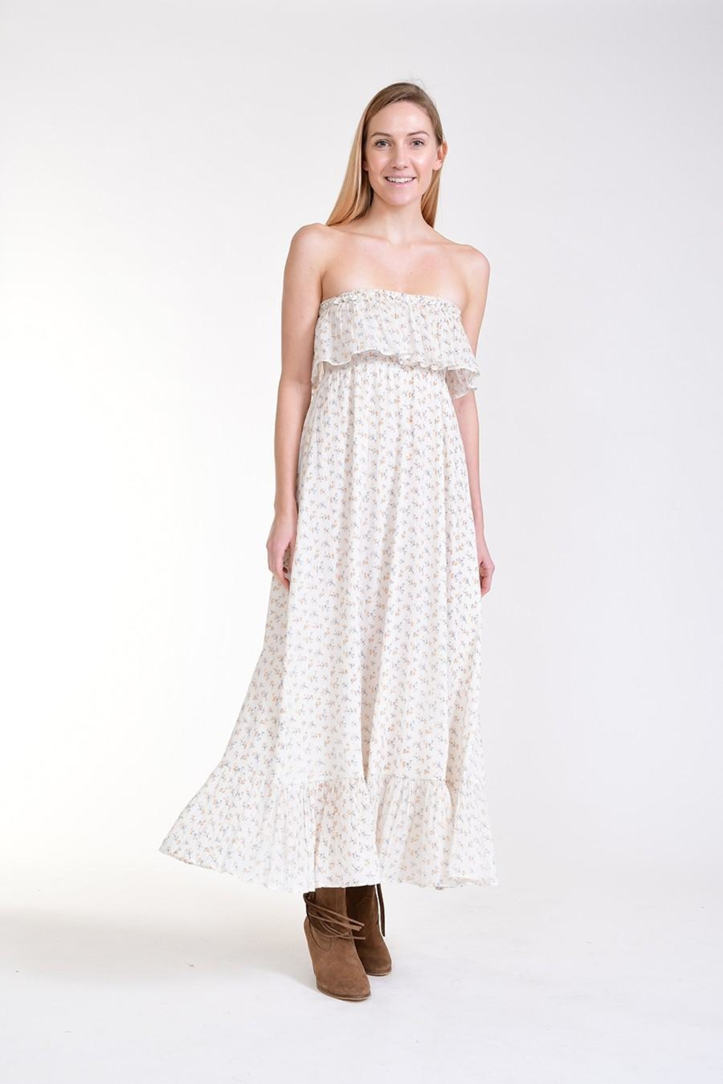 Fox In Gown Meadow Floral Dress - Main Image