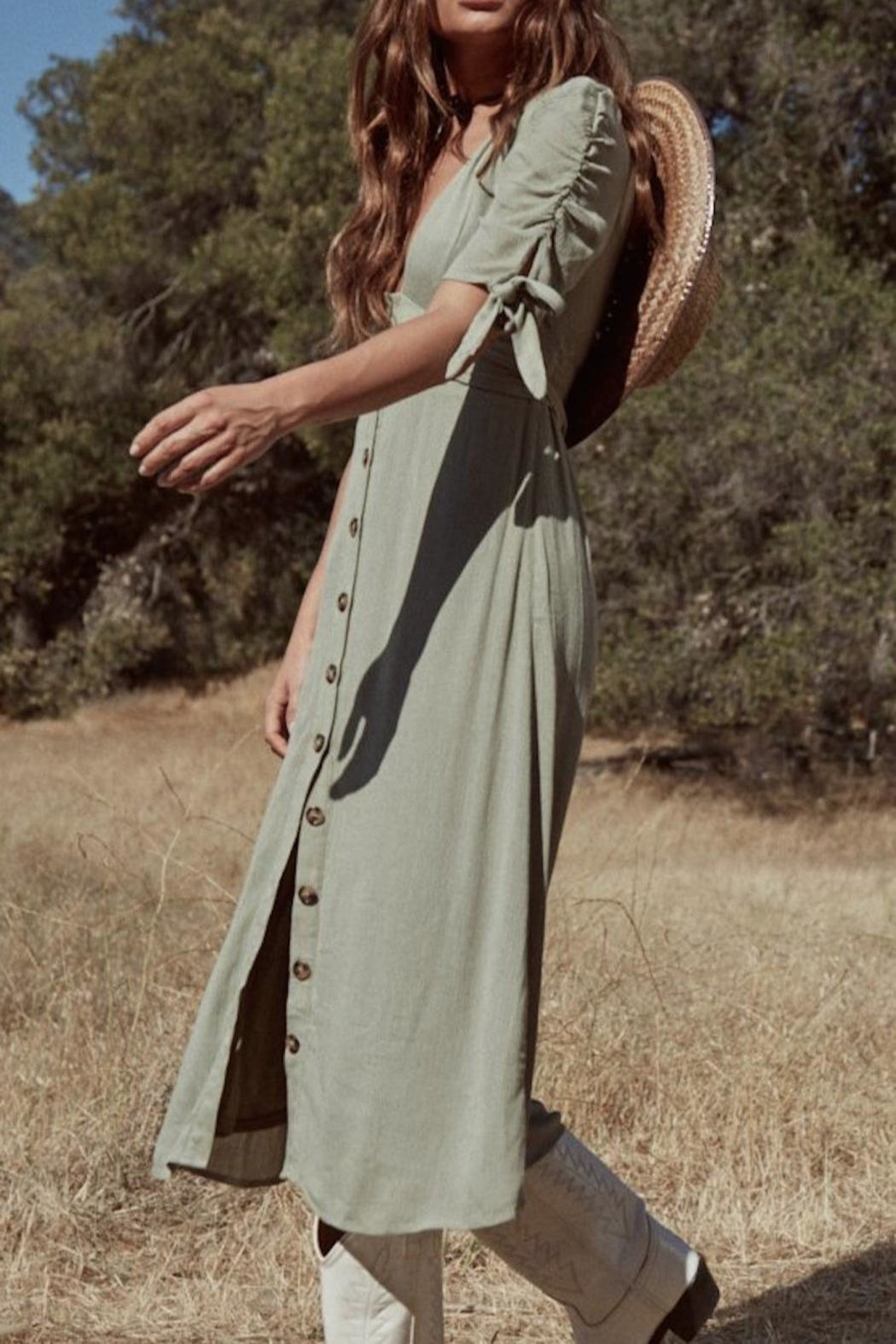 SAGE THE LABEL Meadow Midi Dress - Side Cropped Image