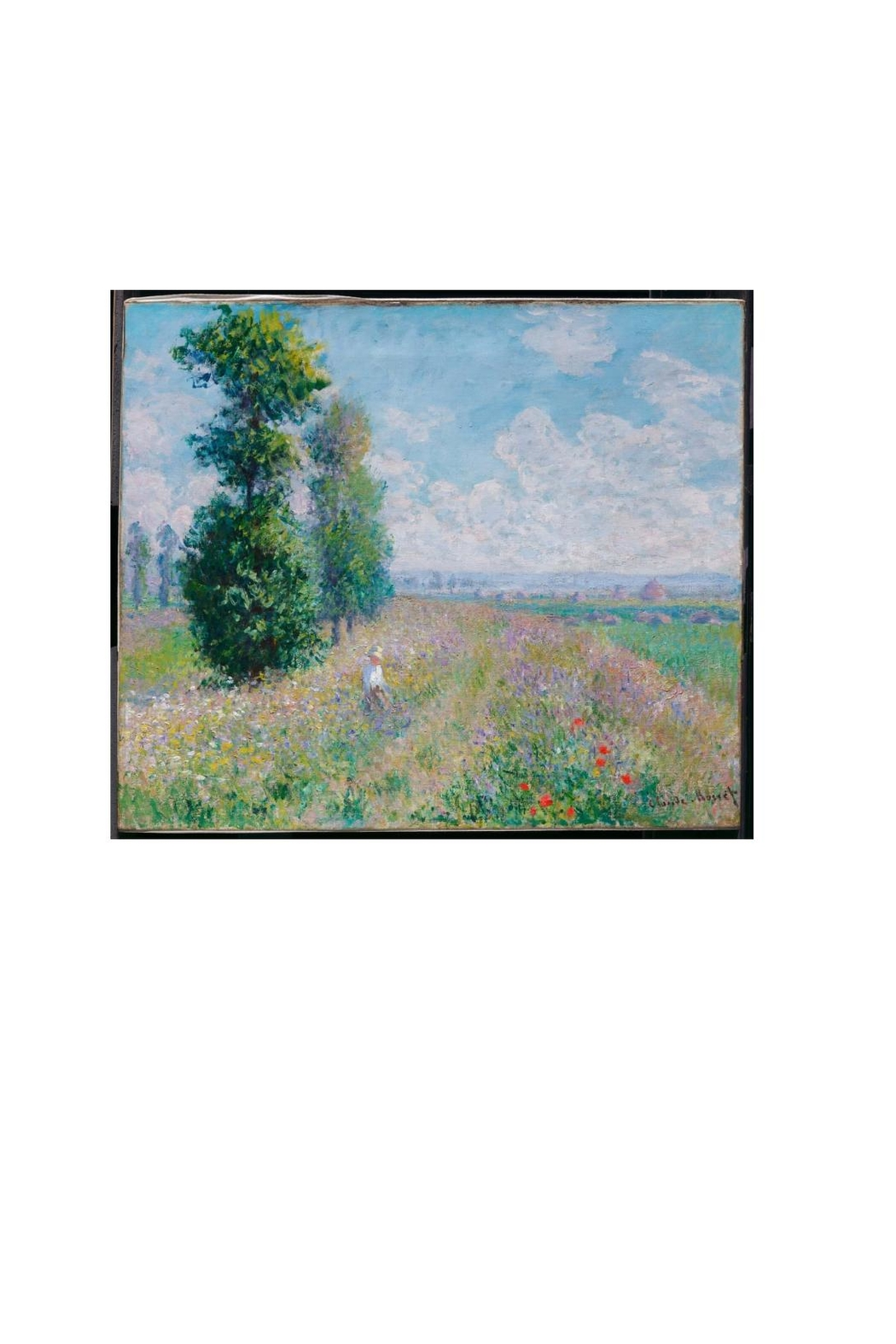 Printed Village Meadow With Poplars - Main Image