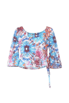 Shoptiques Product: Meaghan 3/4 Slv Tie Dye Top