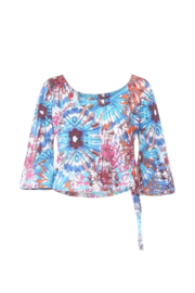 Hippie Guilt Meaghan 3/4 Slv Tie Dye Top - Front cropped