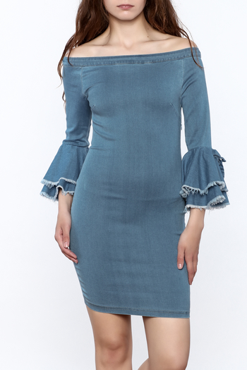 MEBON Denim Bodycon Dress - Main Image