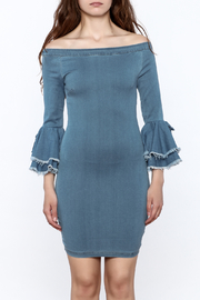 MEBON Denim Bodycon Dress - Side cropped