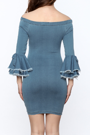 MEBON Denim Bodycon Dress - Back cropped