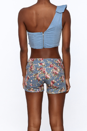 MEBON Denim Crop Top - Back cropped