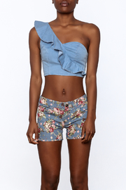 MEBON Denim Crop Top - Side cropped