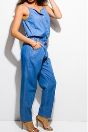 MEBON Soft Denim Jumpsuit - Front full body