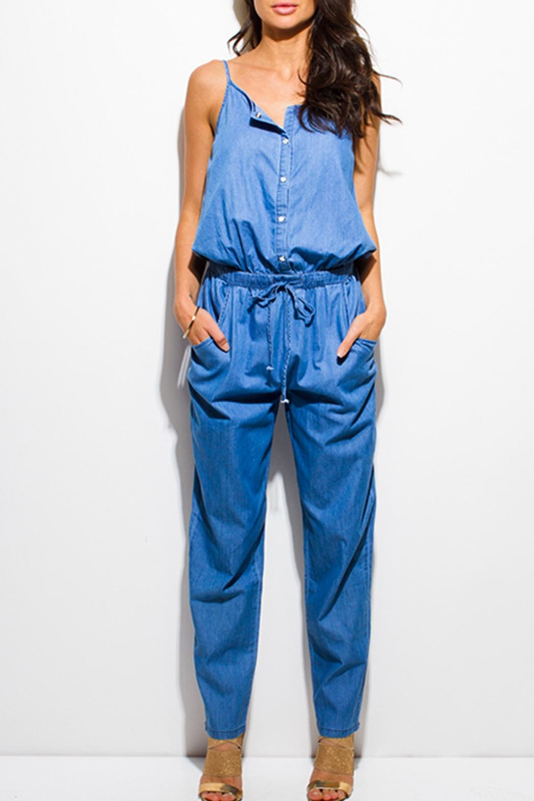 MEBON Soft Denim Jumpsuit - Main Image