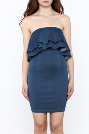 MEBON Strapless Denim Dress - Product Mini Image