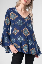 Everly Medallion Print Blouse - Product Mini Image