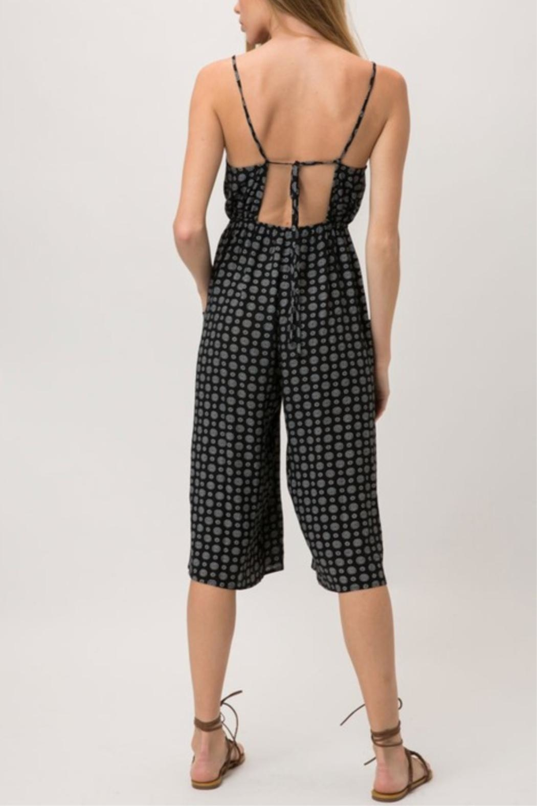 Cozy Casual Medallion Print Jumpsuit - Side Cropped Image