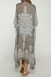 Love Stitch Medallion Print Kimono - Front full body