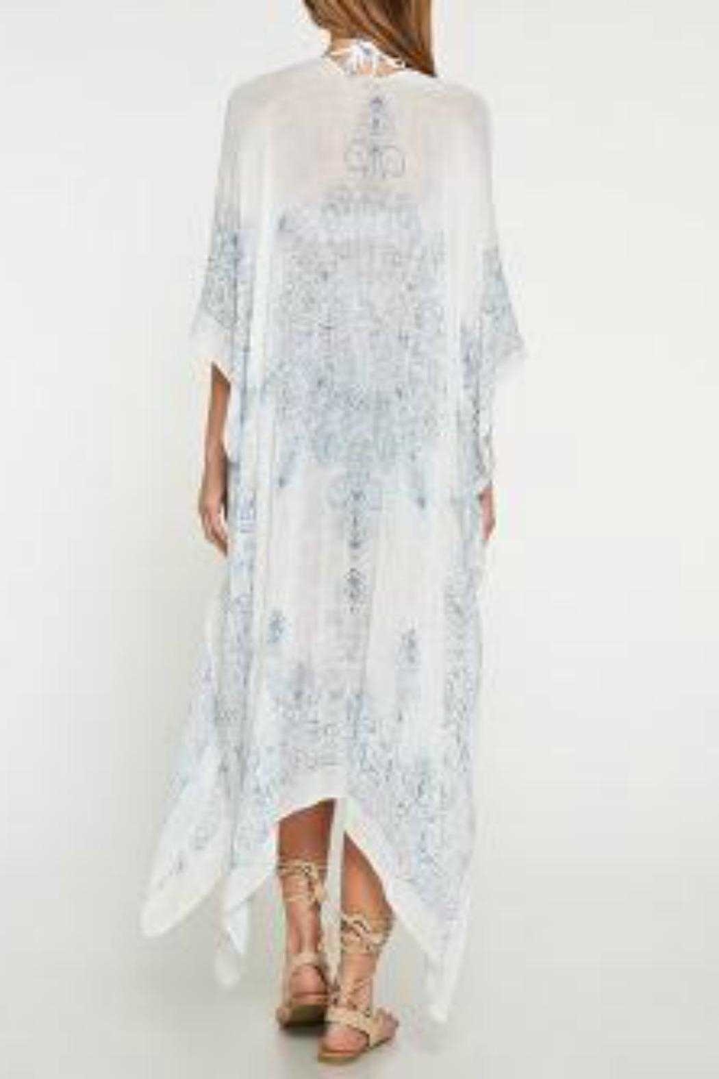 Love Stitch Medallion Print Kimono - Side Cropped Image