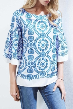 Shoptiques Product: Medallion Top Embroidered