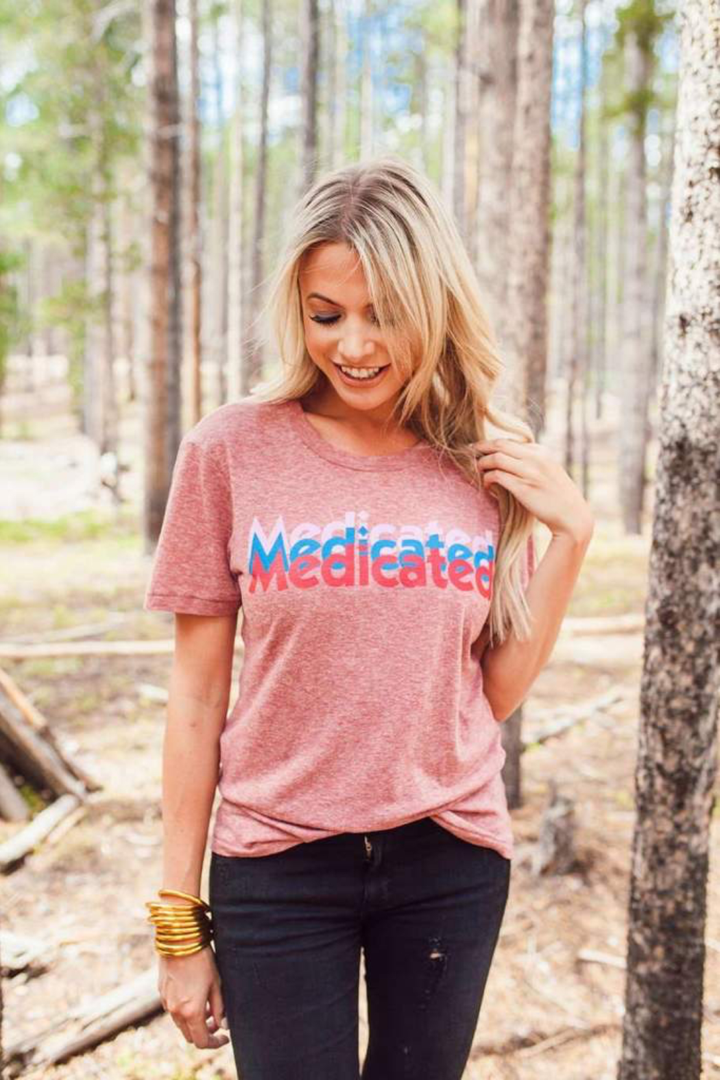 Buddy Love Medicated Graphic Tee - Front Cropped Image