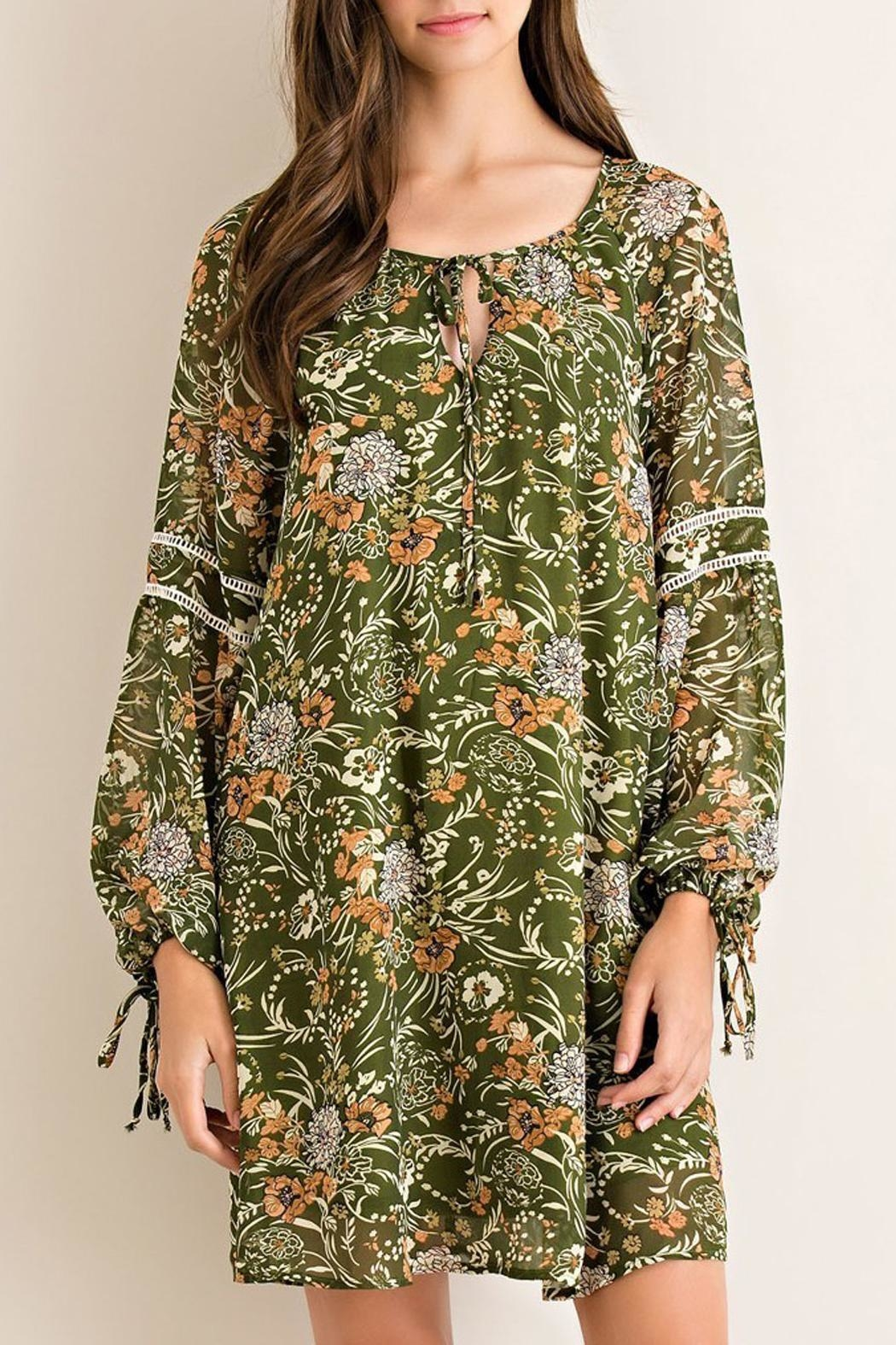 Entro Medieval Forest-Print Dress - Main Image