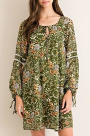 Entro Medieval Forest-Print Dress - Front cropped