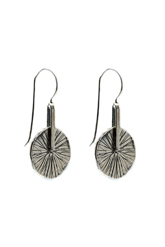 Mediterranean Artist Textured Circle Earrings - Product List Image