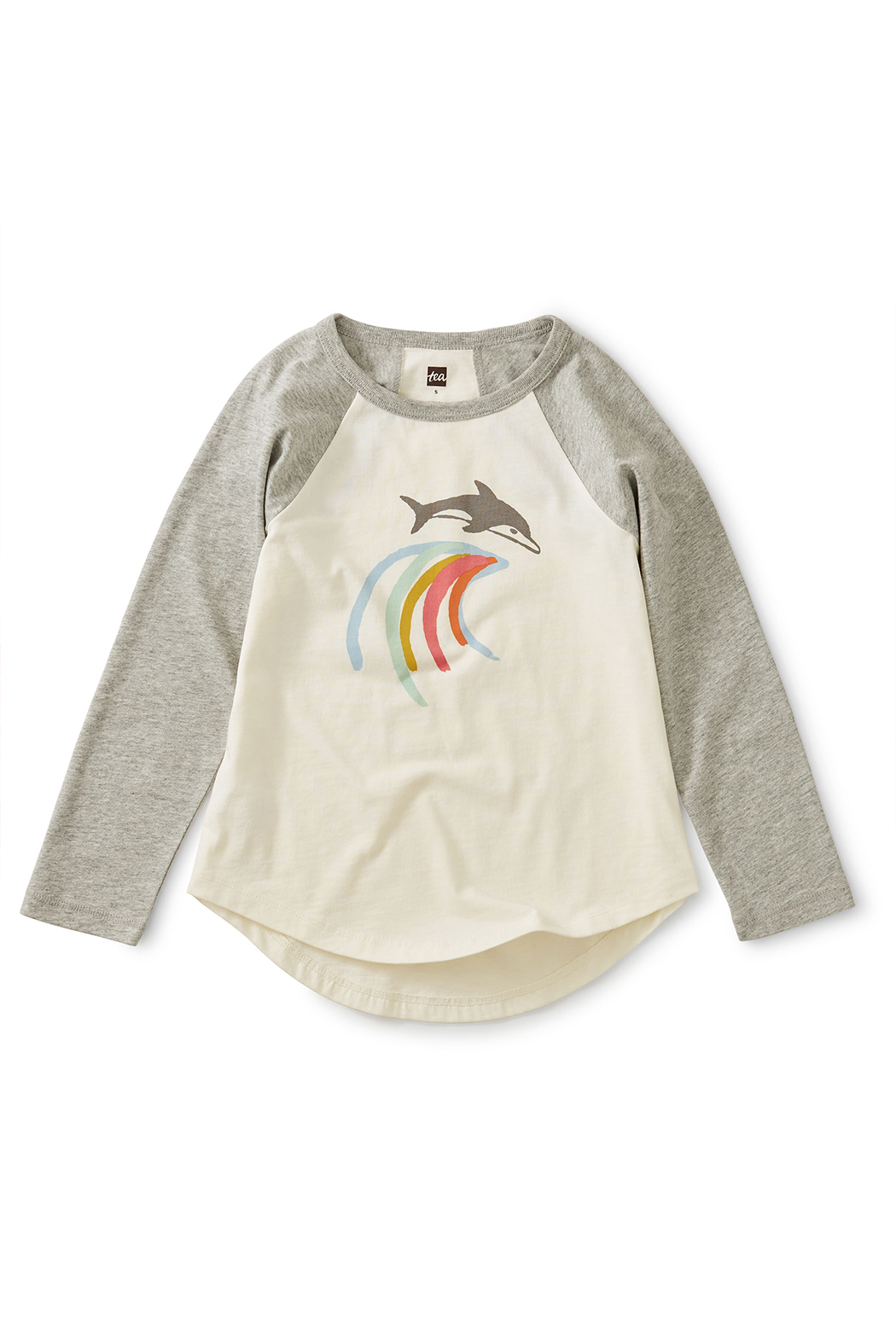 Tea Collection Mediterranean Dolphin Raglan Tee - Main Image