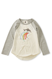 Tea Collection Mediterranean Dolphin Raglan Tee - Front cropped