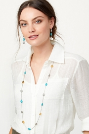 Brighton Mediterranean Turquoise Long Necklace JL8543 - Front full body