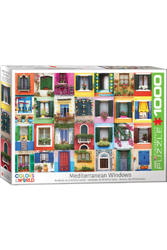 Shoptiques Product: Mediterranean Windows 1000 Piece Puzzle