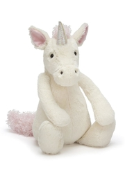 Jellycat Medium Bashful Unicorn Toy - Front cropped