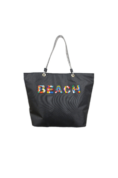 Sondra Roberts Medium Beaded Beach Tote - Alternate List Image